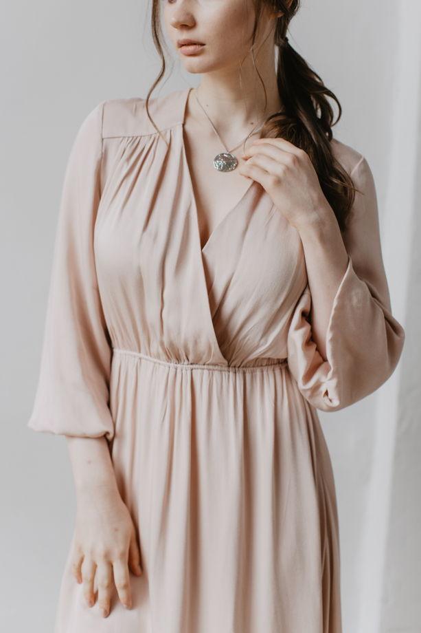 Платье с частичным запАхом