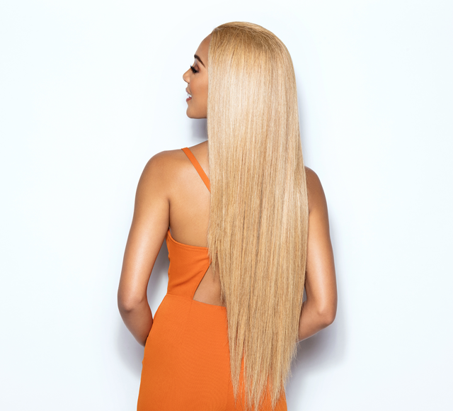 Straight Dark Blonde Hair Extensions Mayvenn