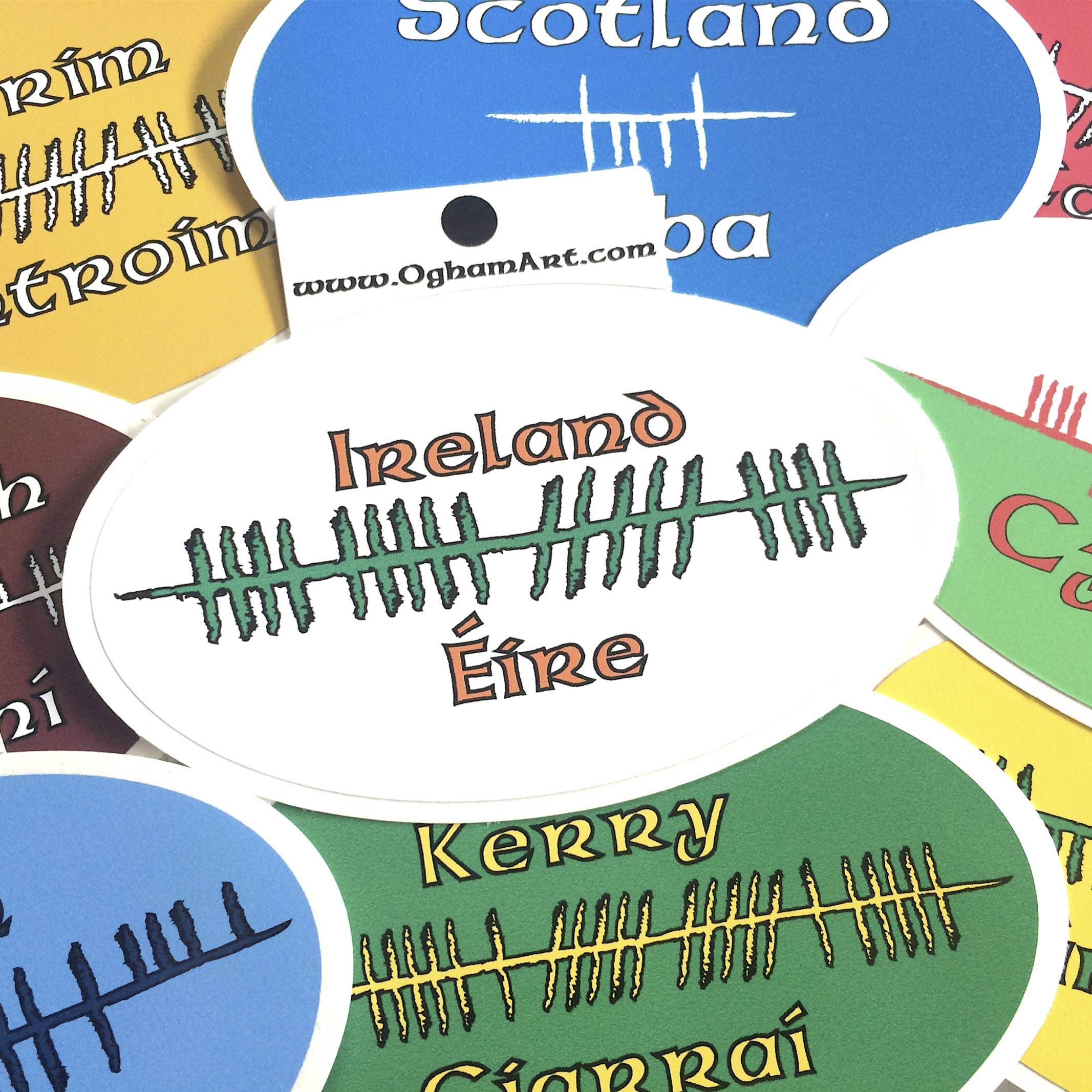 Ogham Bumper Stickers Ireland Scotland Wales