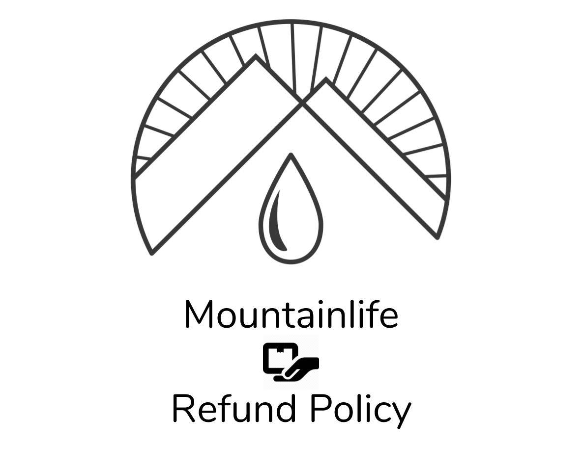 mountainlife refund policy logo in black