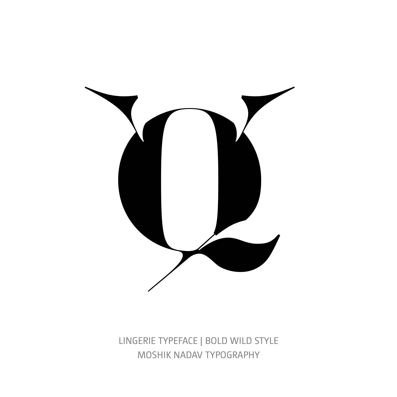 Lingerie Typeface Bold Wild alternate q