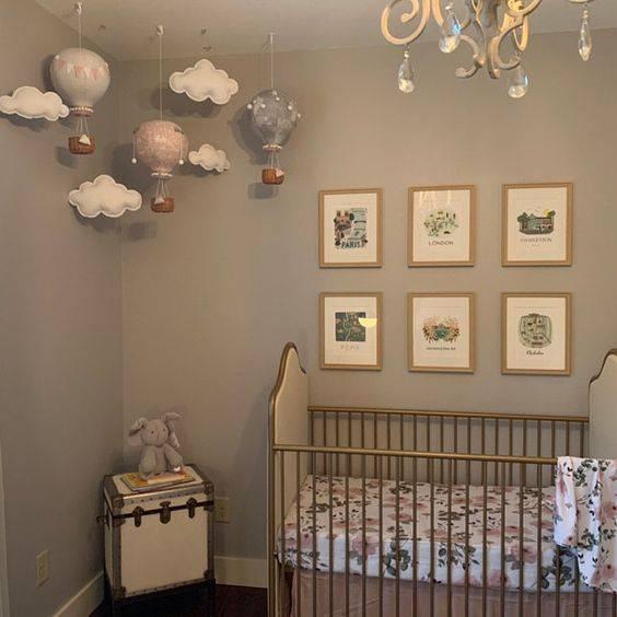 Traveller theme chic and neutral nursery decor