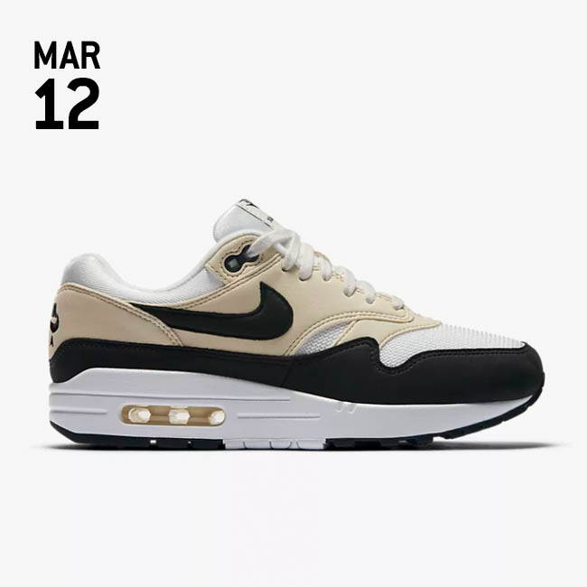 NIKE AIR MAX 1 SHOE - Sail/Fossil/Black