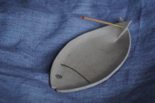 """Подставка для благовоний ручной работы """"fish"""""""