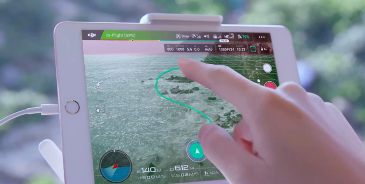 In Trace Mode users can easily trace a path for their drone to follow autonoumsly