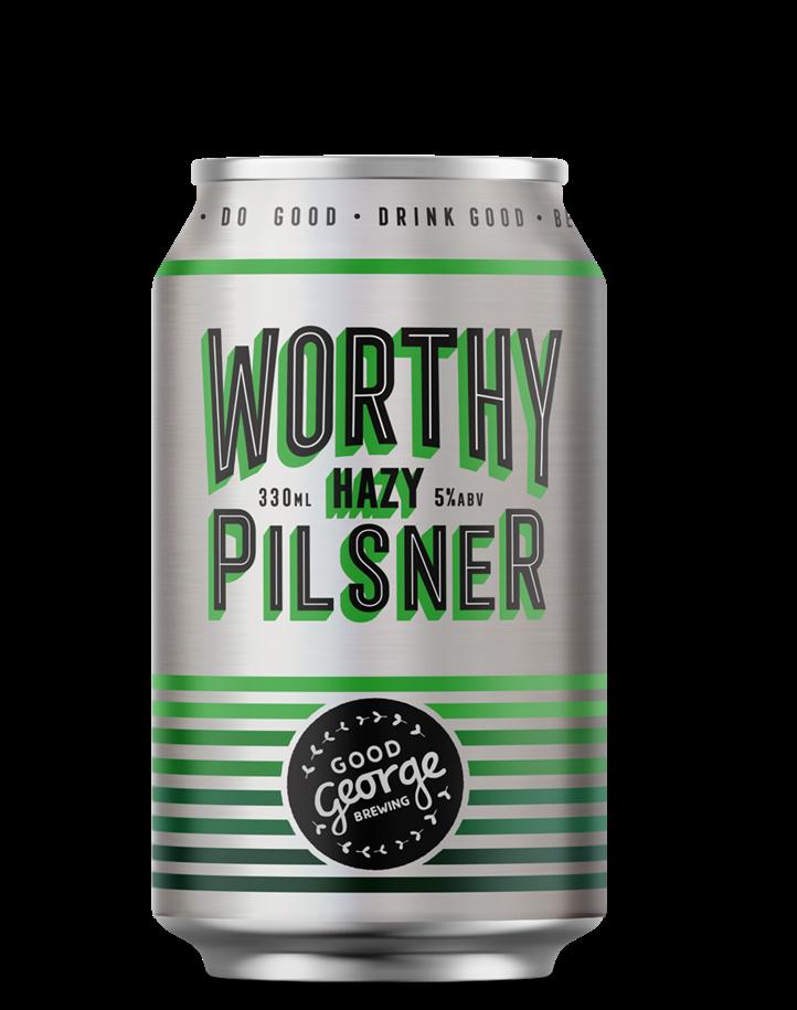 Good George Worthy Hazy Pilsner Can