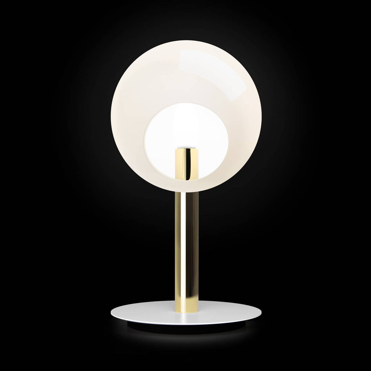 Stem Table Lamp in Brass