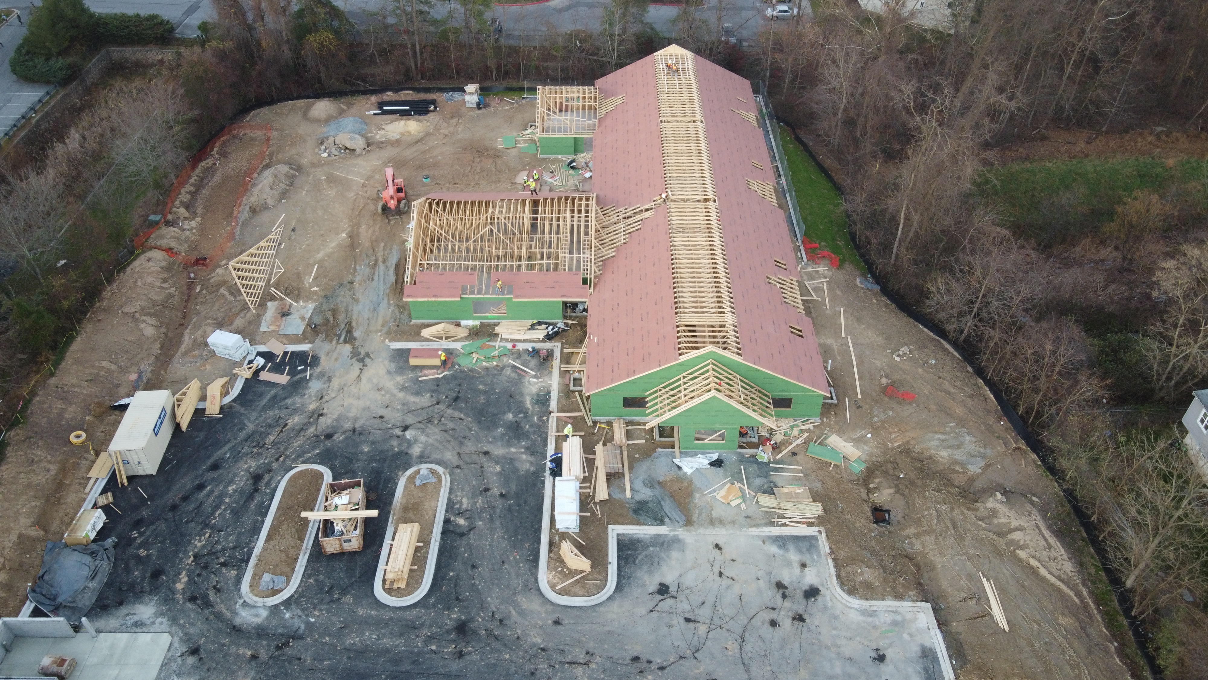 Great progress on construction..