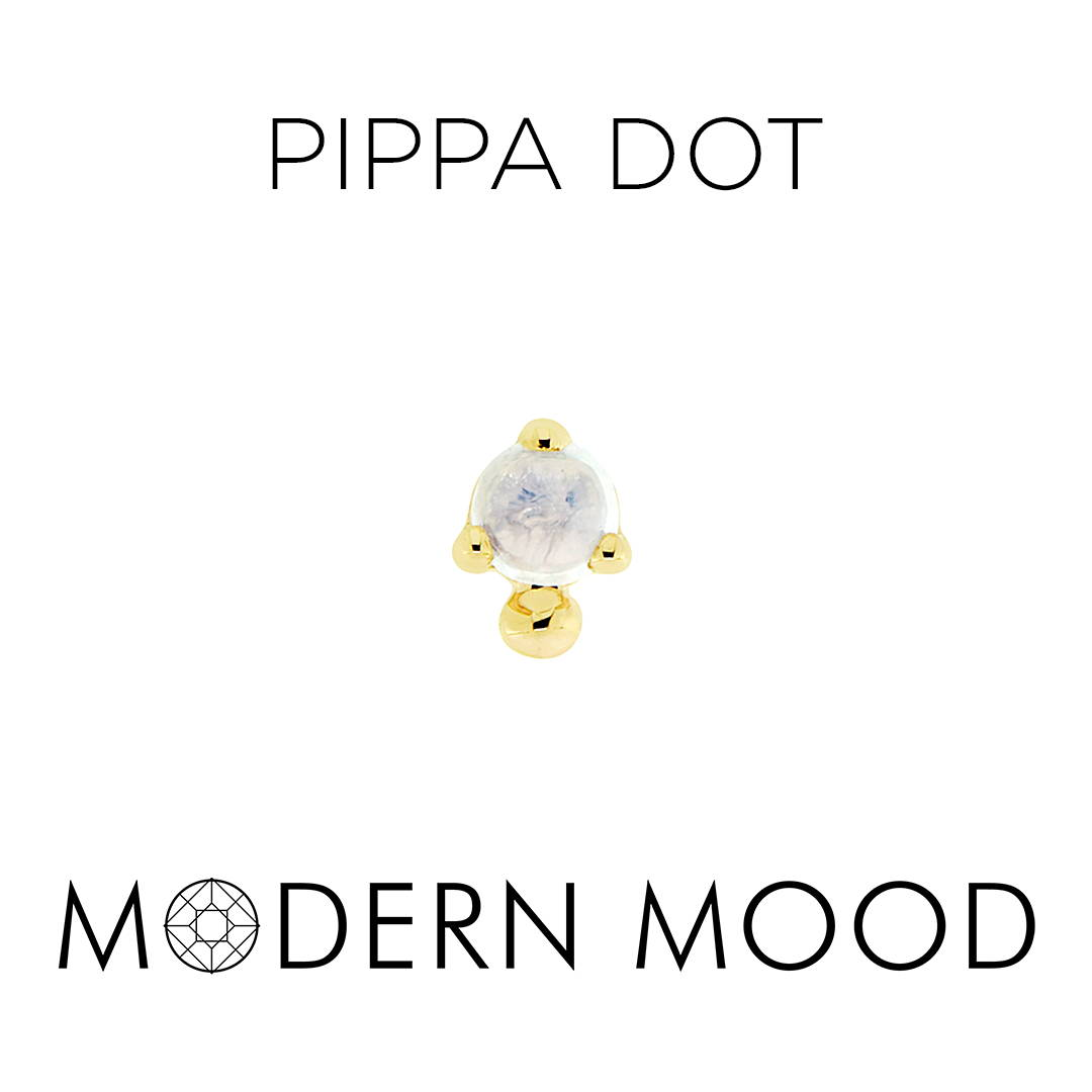 pippa dot opal moonstone piercing jewelry