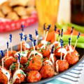Children party food, meatballs, catering south london
