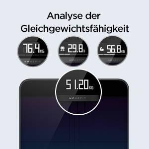 Amazfit Smart Scale - Großes LCD-Display; Enthält bis zu acht Körpergesundheitsmetriken