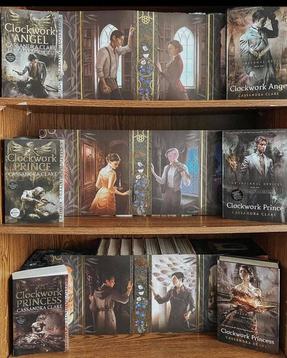 Exclusive Dust Jacket Set by Alice Duke for the Infernal Devices Series by Cassandra Clare