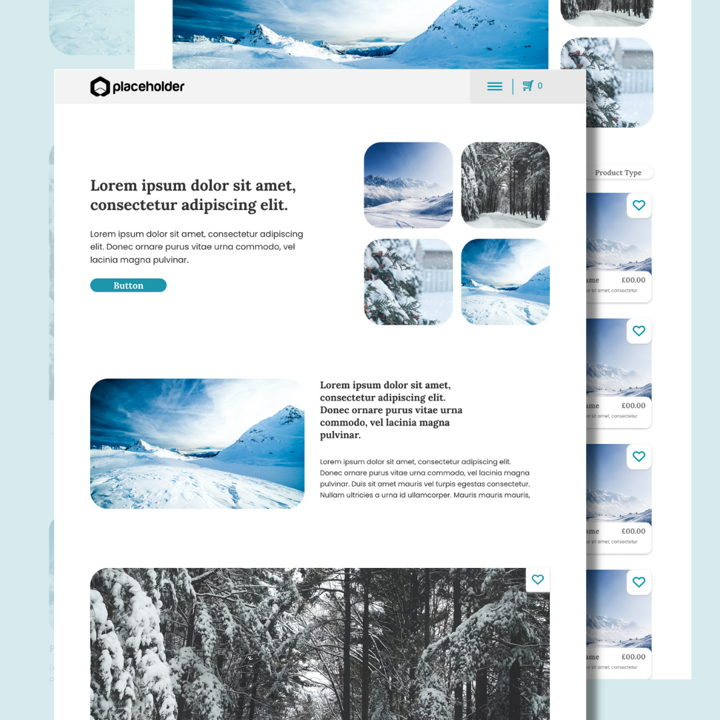 Snow template's featured image