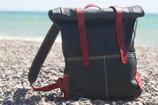 """Рюкзак-скрутка из натуральной кожи """"ROLL"""""""
