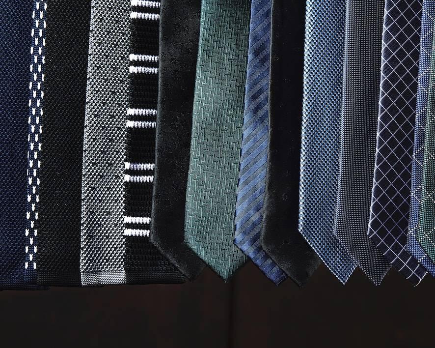 TailorMate   slips i forskellige farver, stripet slips, flettet slips, strikket slips, business slips