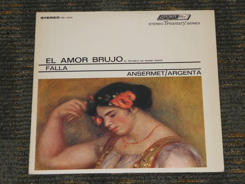 "Ansermet/L'Orchestre de la Suisse Romande - Falla ""El Amor Brujo"" London STS 15014 3W/3W matrix ""Silver Print"""