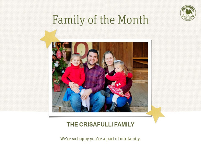 Congratulations on being our February Family of the month!