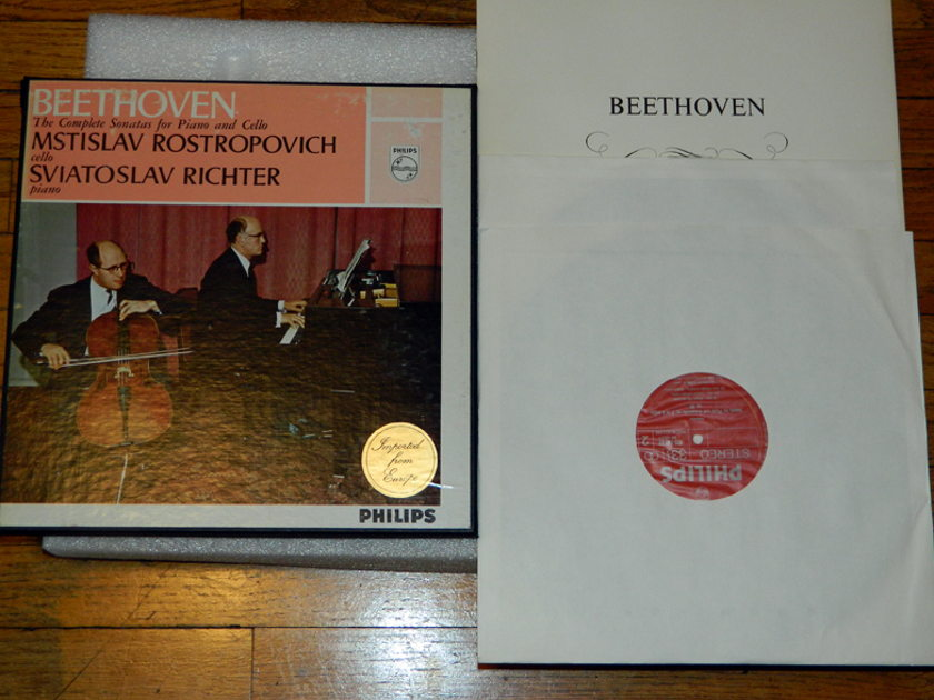 Rostropovich/Richter- Beethoven - The Complete Sonatas For Piano & Cello Philips 3-LPs