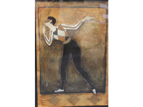 ARLEQUINO II -- Original Fine Art by M. Duran