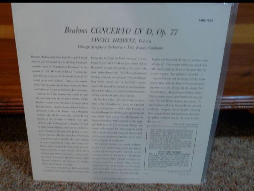 (Heifitz) Chicago Symphony (Reiner) - Brahms Violon Concerto lsc 1901 Classic Records correct LP number is lsc1903 not 1901