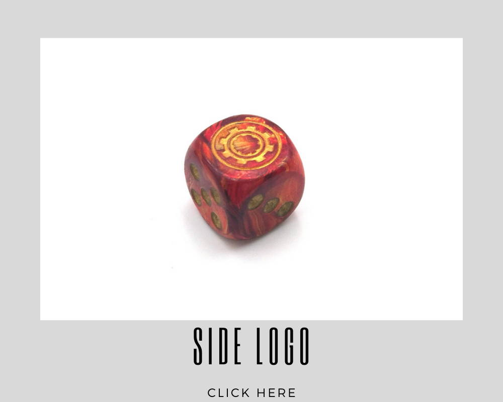 Corporate Side Logo Custom Dice