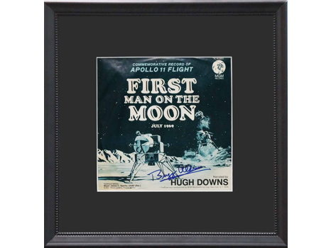 """45 RECORD """"FIRST MAN ON THE MOON"""" SIGNED BY BUZZ ALDRIN"""