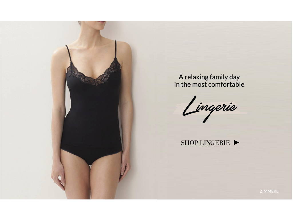 Mother's day lingerie for moms a relaxing family day in the most comfortable lingerie zimmerli