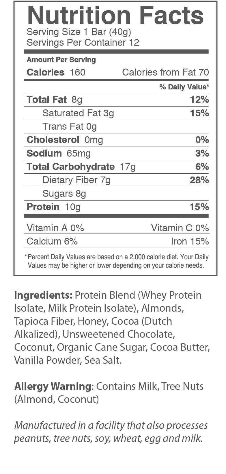 Chocolate Chip Brownie Nutrition Facts