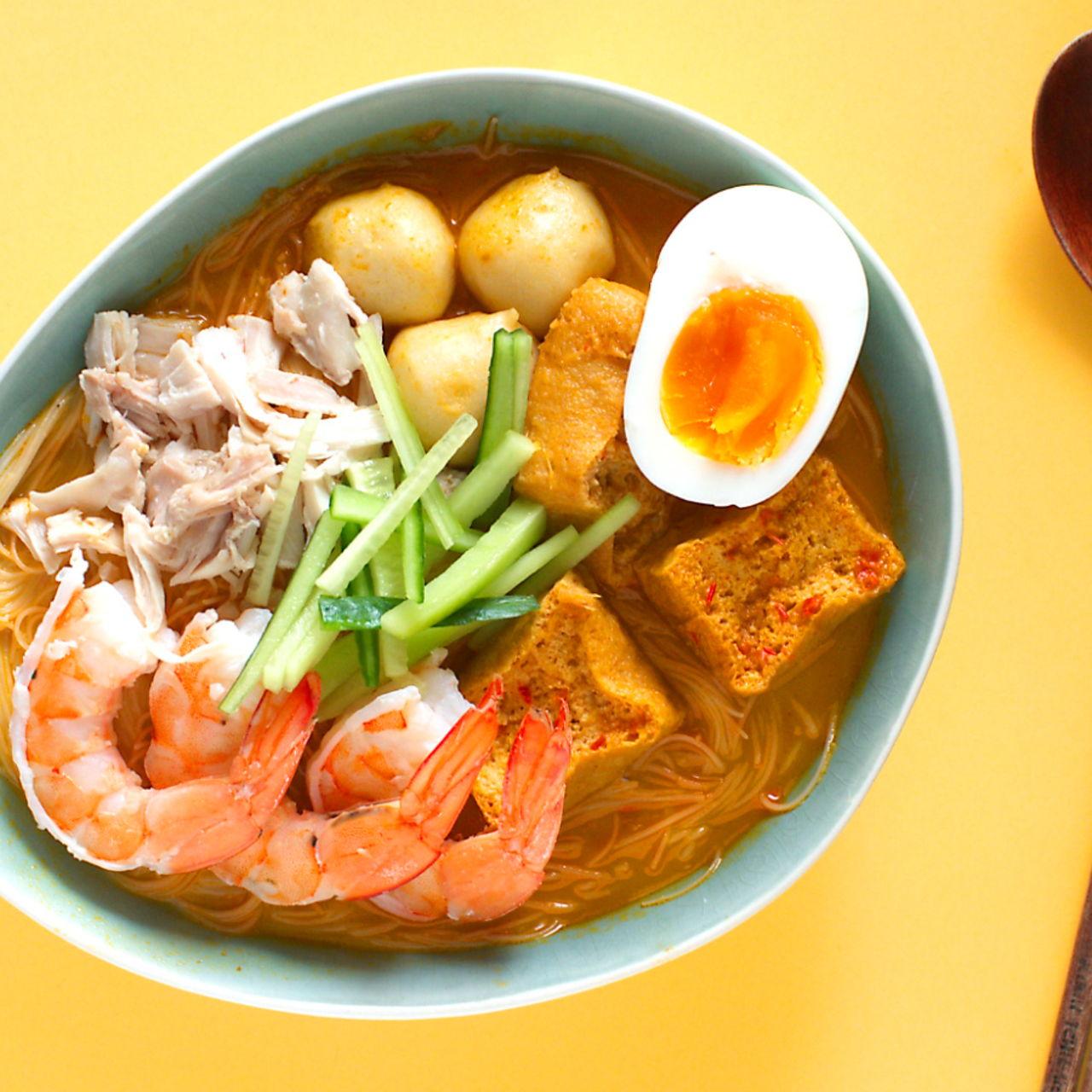 Curry Laksa Southeast Asian Recipes Nyonya Cooking