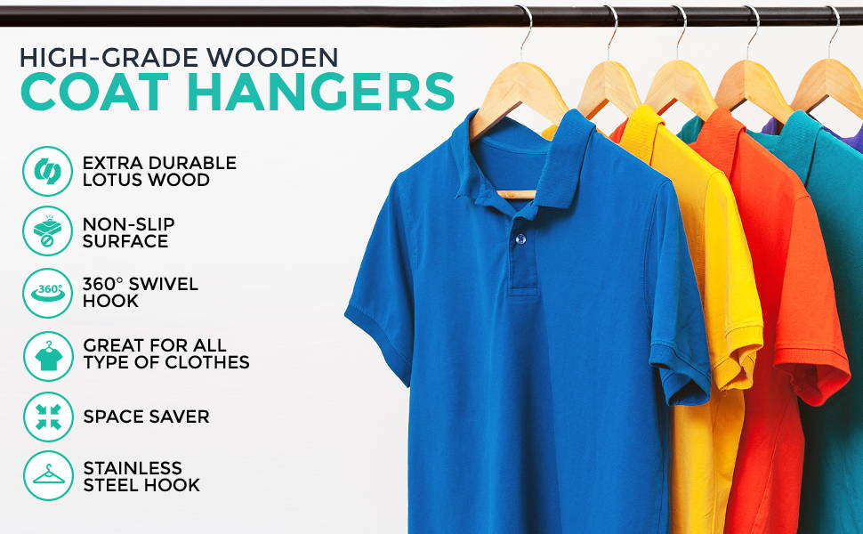 High-grade Wooden Coat Hangers