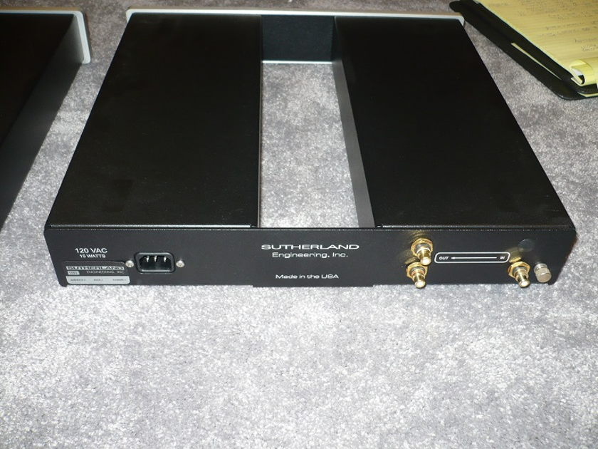 Sutherland Engineering Phono Blocks Pair of Mono Phono stage units.  SOTA and awesome