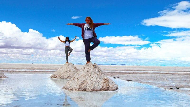 Mounds of salt, Uyuni, Bolivia