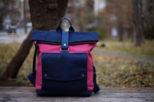 Городской рюкзак из канваса