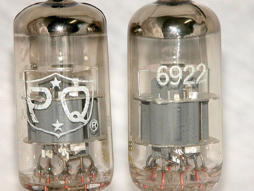 Amperex PQ 6922  USA White Label  Tested NOS