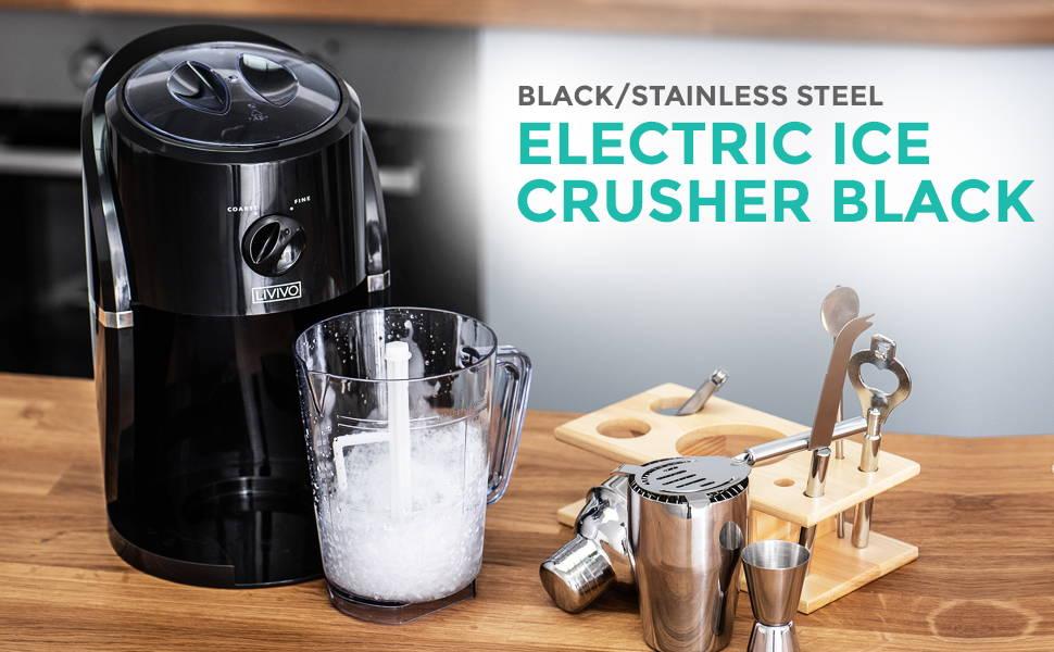 Electric Ice Crusher Black