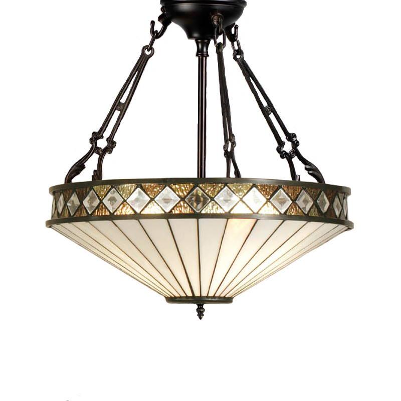 Tiffany fordított függő mennyezeti lámpák