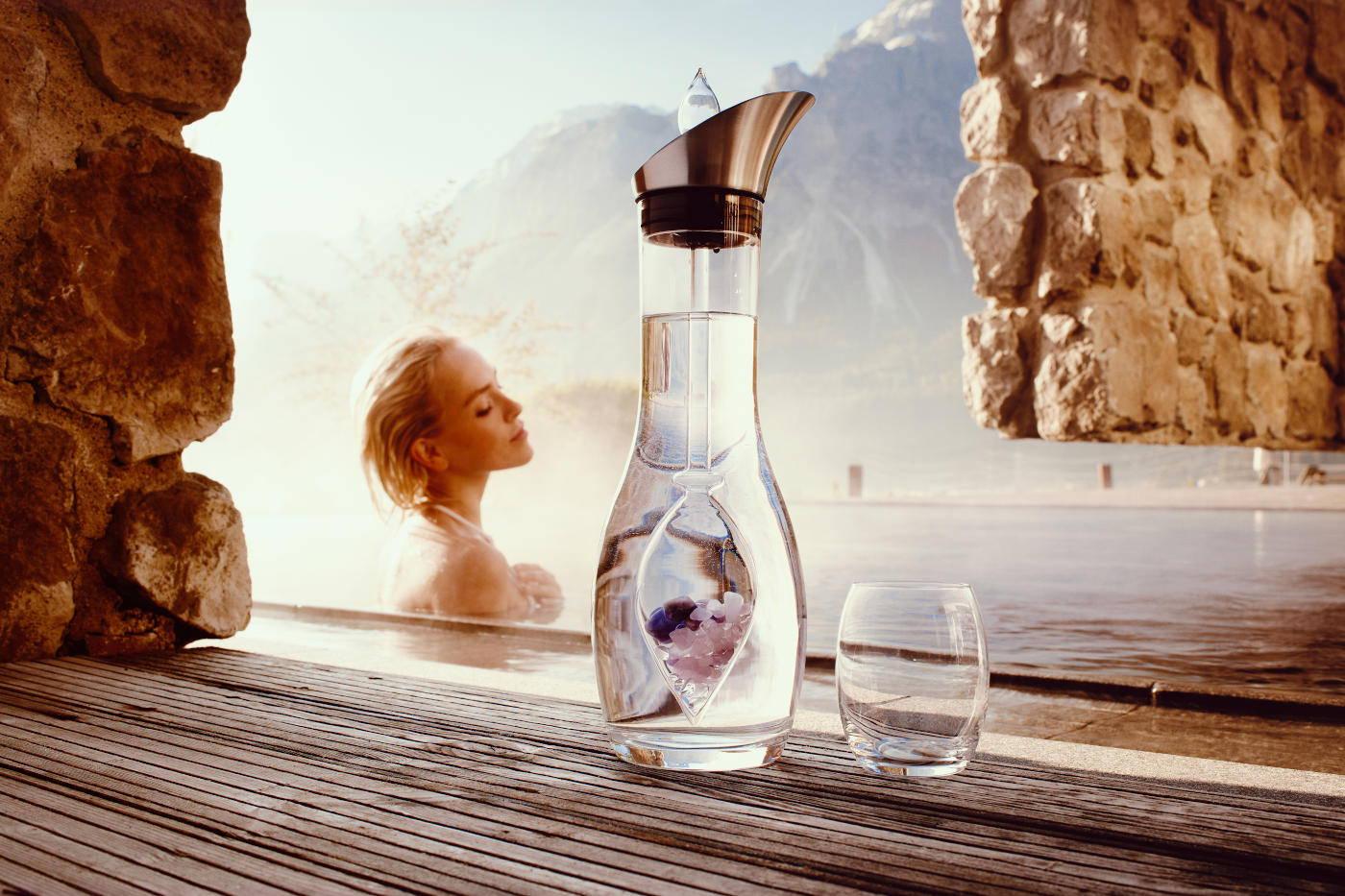 Karaffen & Phiolen Stäbe Edelsteinwasser Vita Juwel exklusiv mit Biopersonalisierung