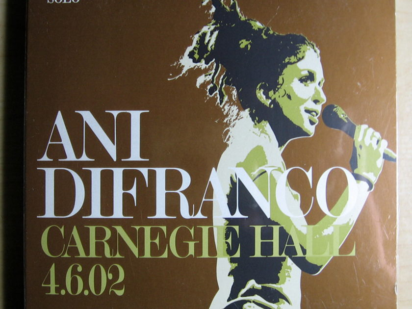 Ani DiFranco - Carnegie Hall 4.6.02  - Compact Disc / CD  Righteous Babe Records RBR051-D
