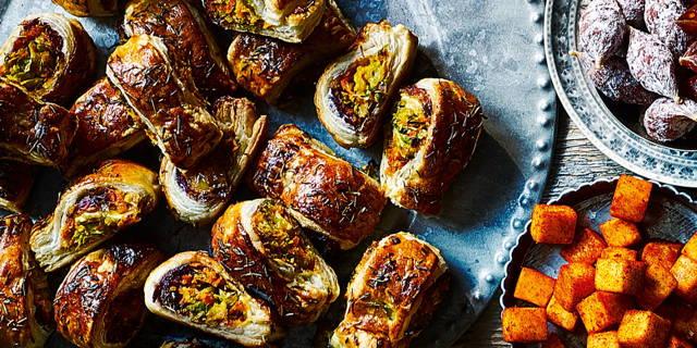 Christmas vegetarian recipes Vegetarian 'Sausage Rolls'