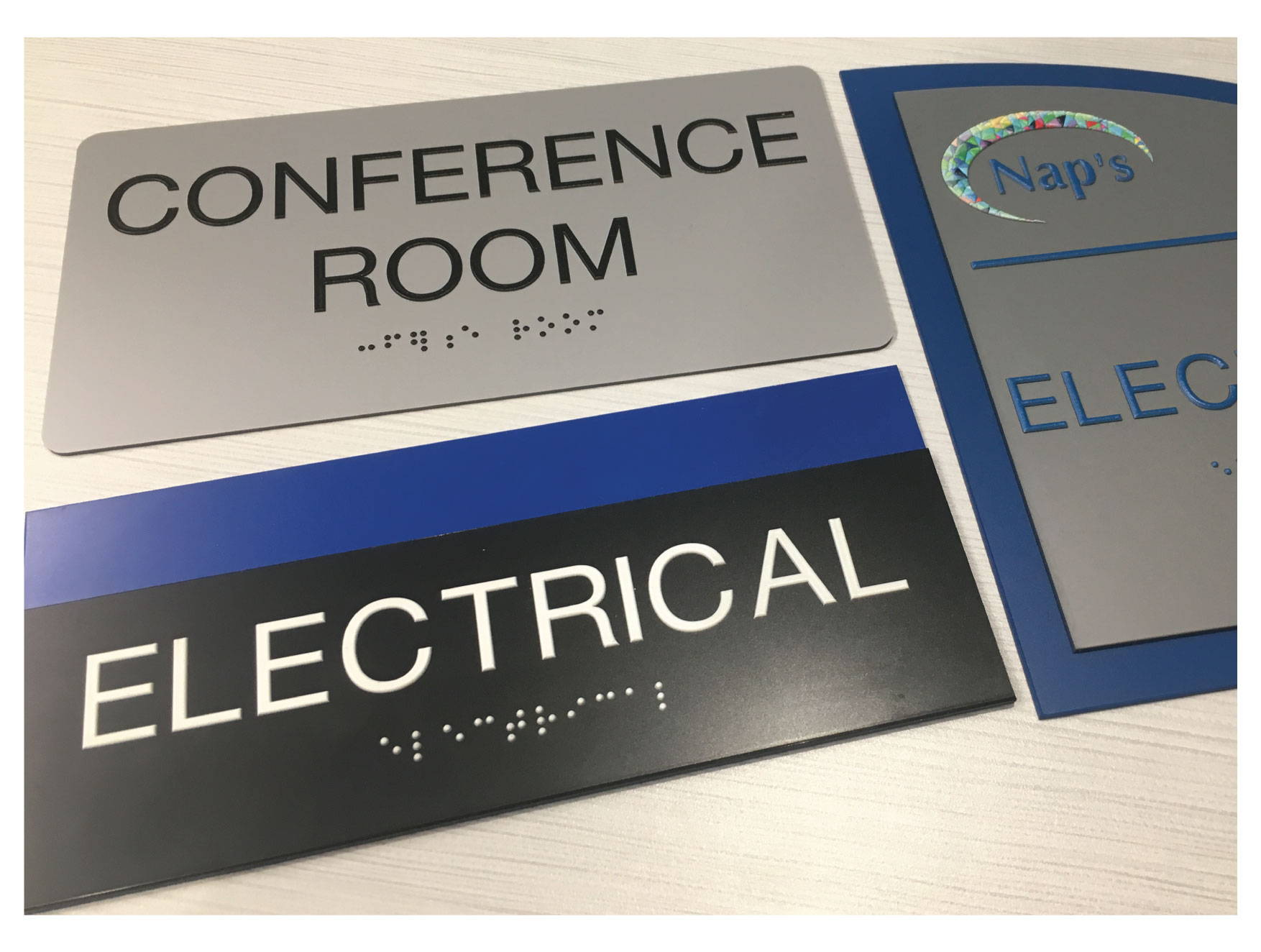 ADA Custom Room Name Signs with Grade II Braille, Compliant ADA Signs
