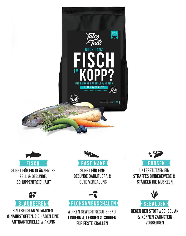 Softes Trockenfutter mit Fisch gesunde Zutaten