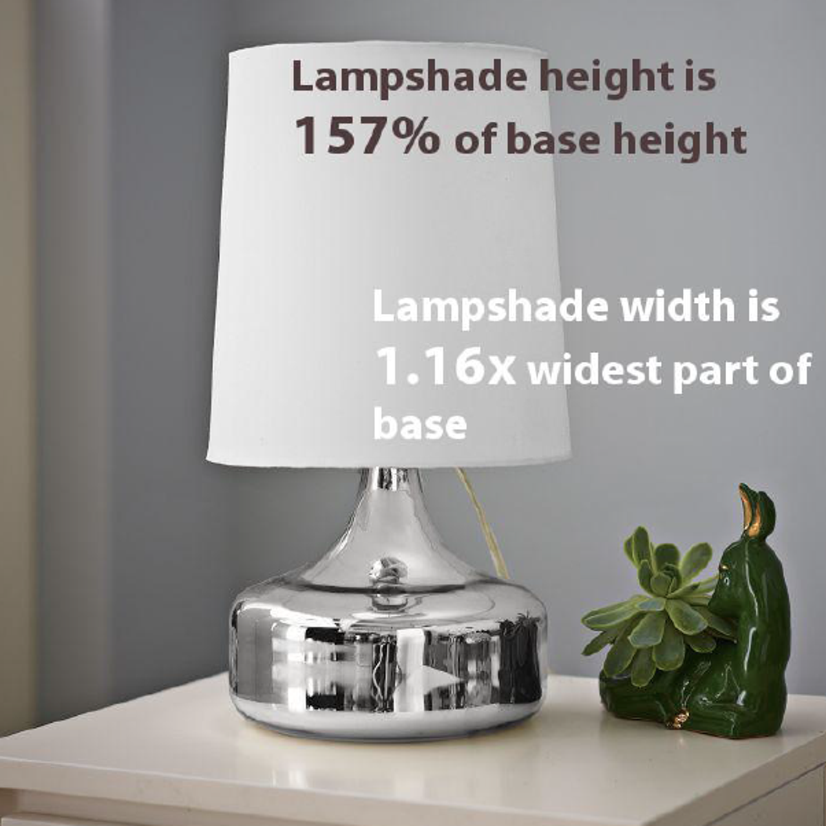 What size lampshade you need for your diy lighting project i like once you know the proportional measurement guidelines feel free to play around a bit here are some examples of lampshades that dont follow the lampshade aloadofball Gallery