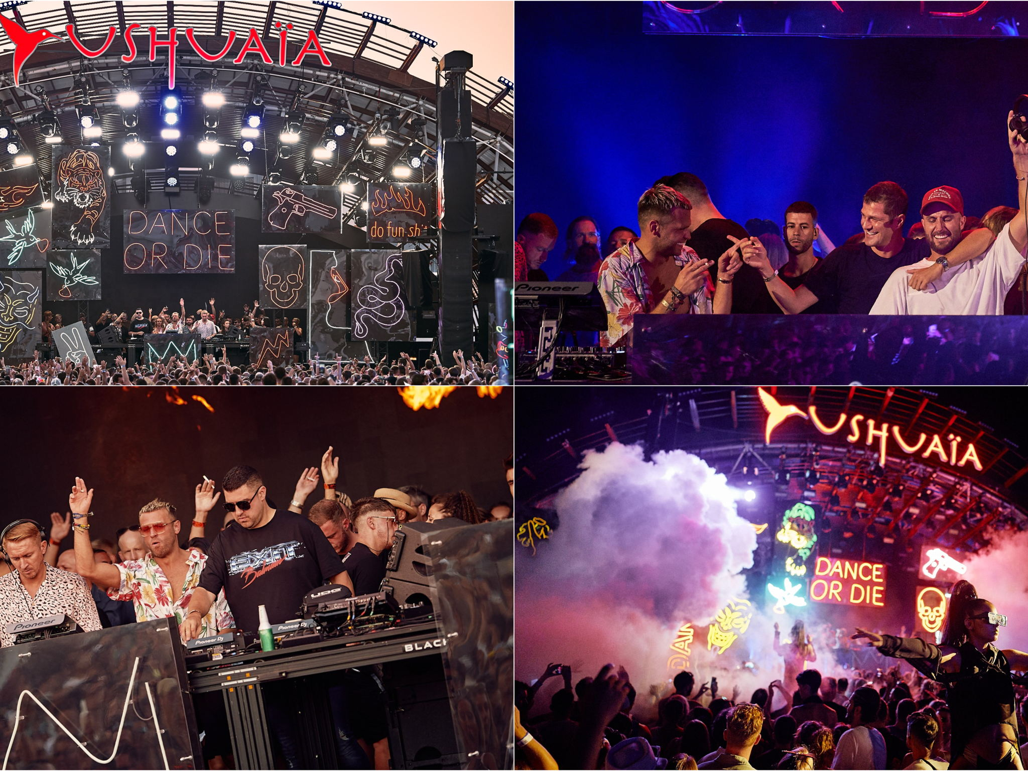 Dance or die collage party Ushuaia Ibiza Tickets