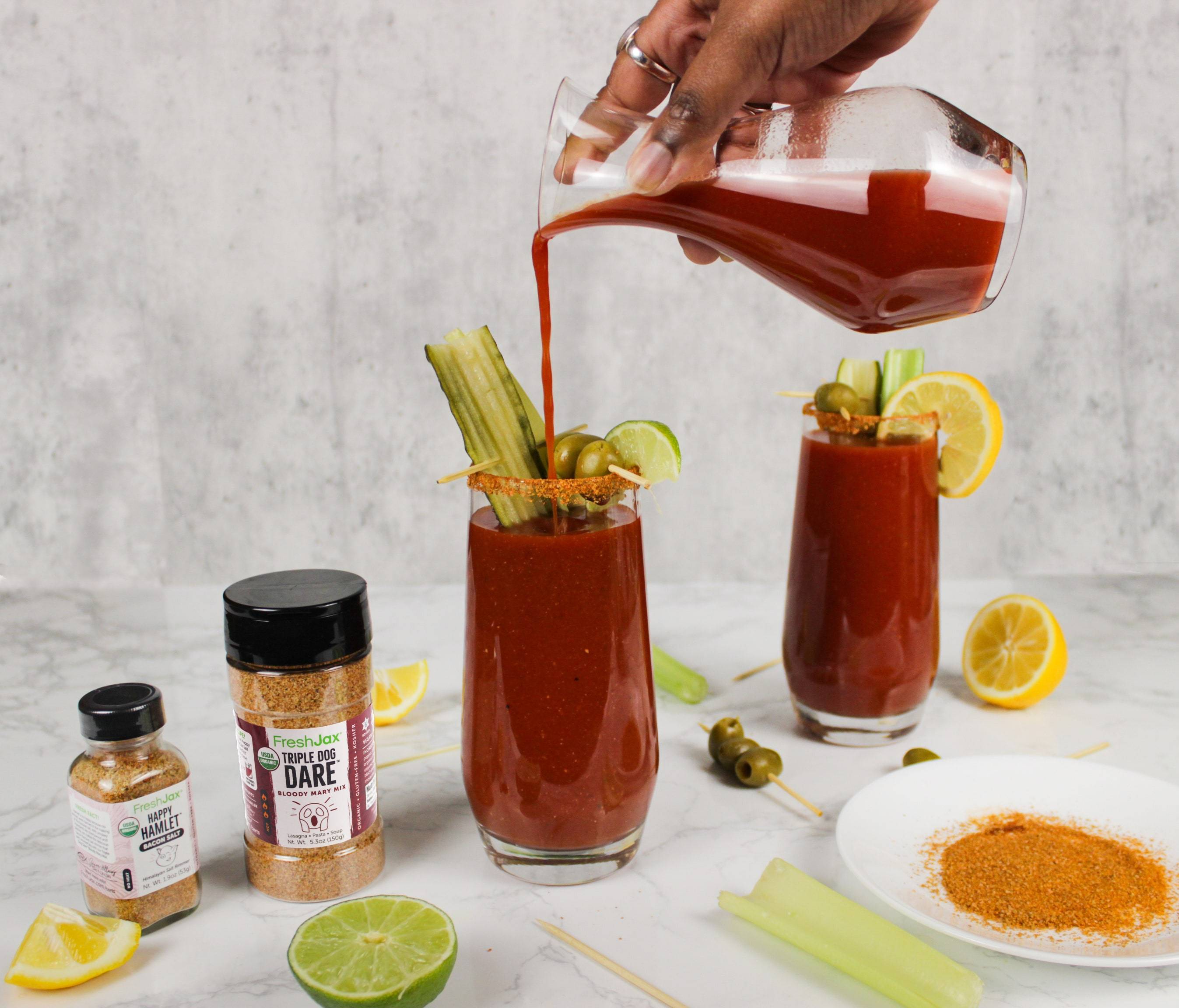 FreshJax Organic Spices Bloody Mary Mix and Bacon Salt