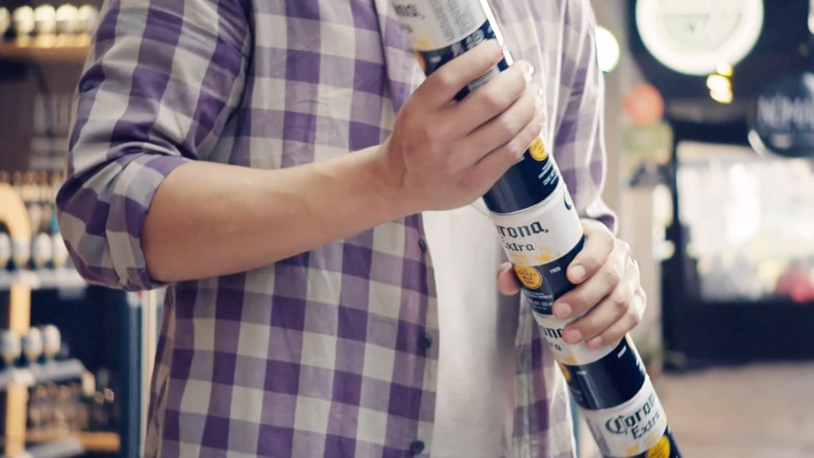 Corona Asks Why Use A Six-Pack Ring When You Could Just Stack The Cans Instead?