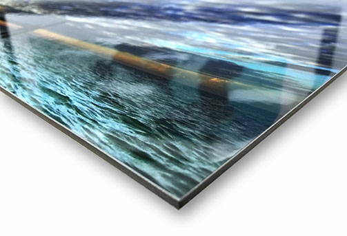 Photo metallic print mount