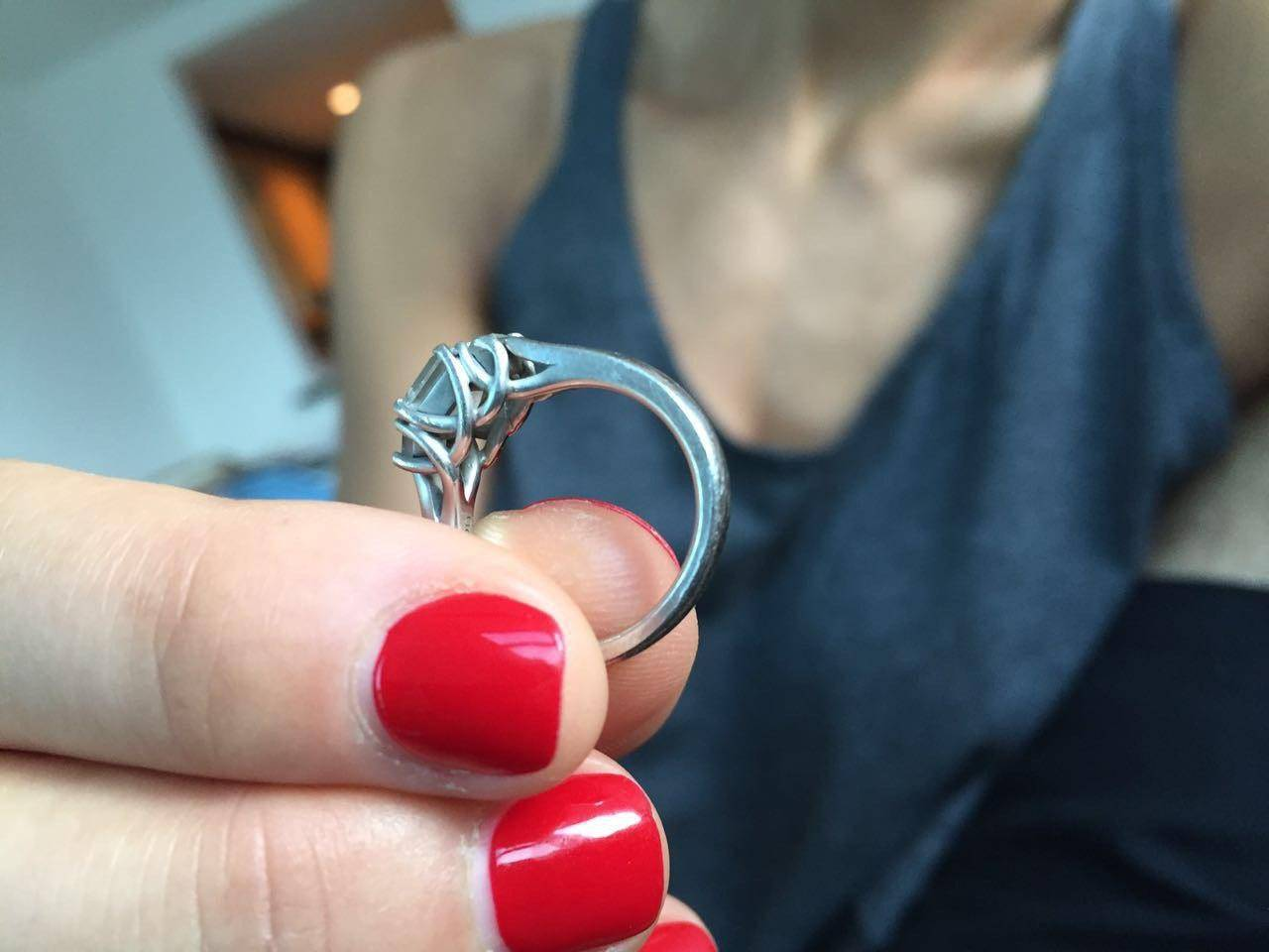 Constantin`s fiancée's engagement ring