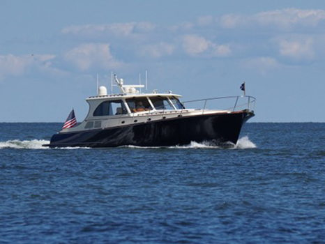 Picnic Dinner & Drinks Aboard a Classic 55' Hinckley Talaria Power Yacht