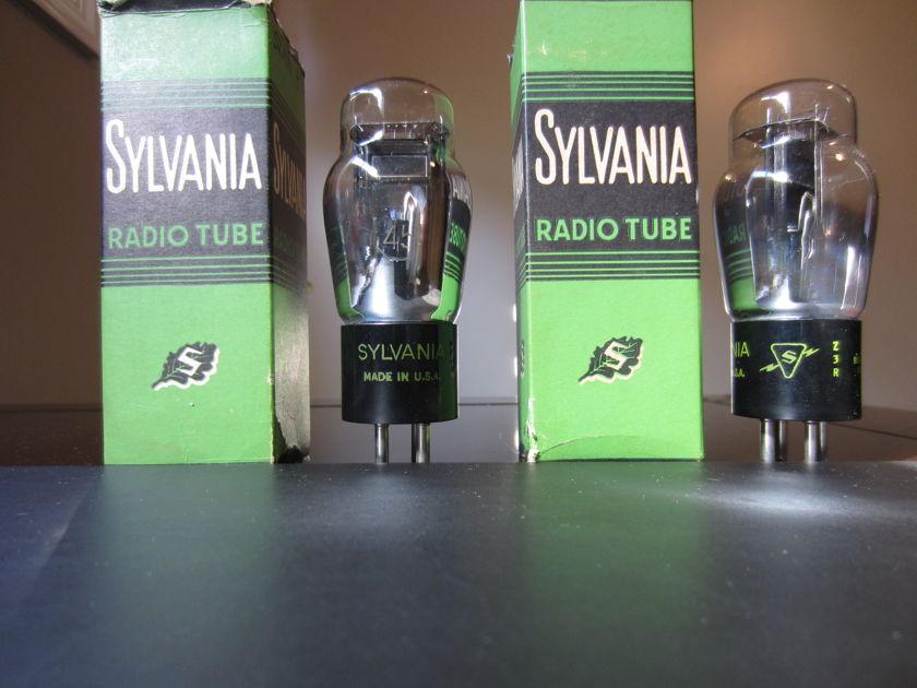 Sylvania 45 Black Plates Matched pair