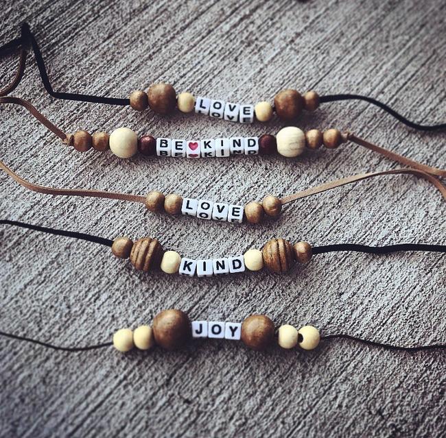 several bracelets together